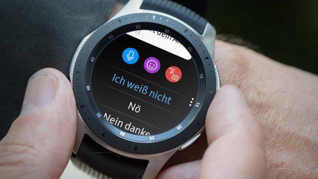 An der Samsung Galaxy Watch auf WhatsApp-Nachricht antworten