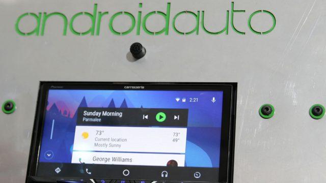 Demonstration von Android Auto.