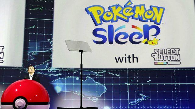 Pokémon Sleep wird auf der Pressekonferenz der Pokémon Company angekündigt.