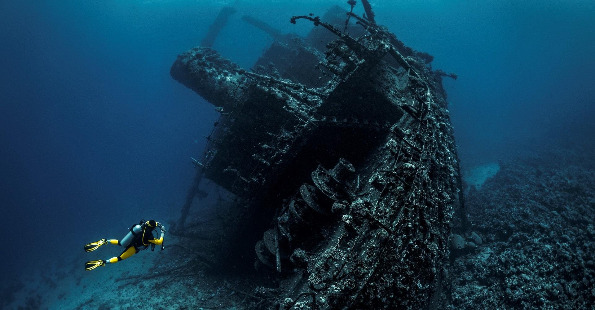 Aufgenommenes Schiffswrack