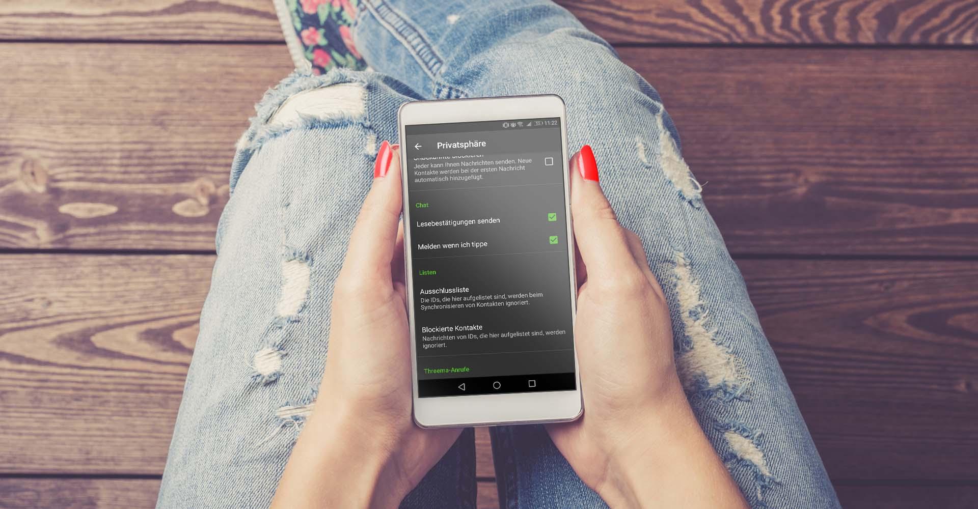 Via Threema am Smartphone keine Lesebestätigungen mehr senden.
