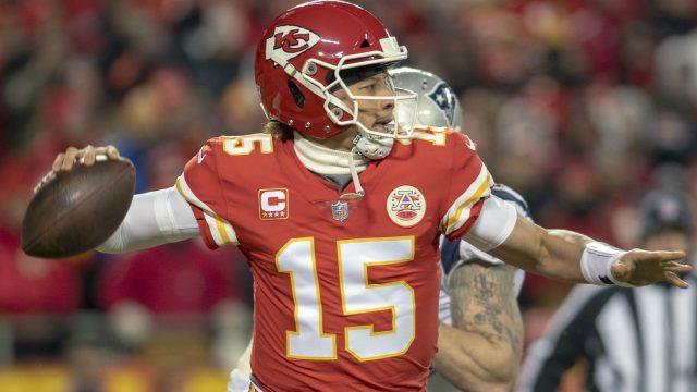 NFL-Star Patrick Mahomes bei einem Spiel.
