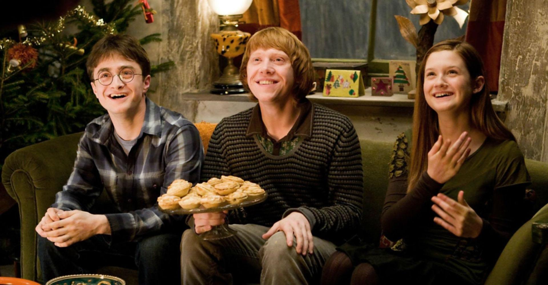 """Daniel Radcliffe, Rupert Grint und Bonnie Wright in """"Harry Potter und der Halbblutprinz""""."""