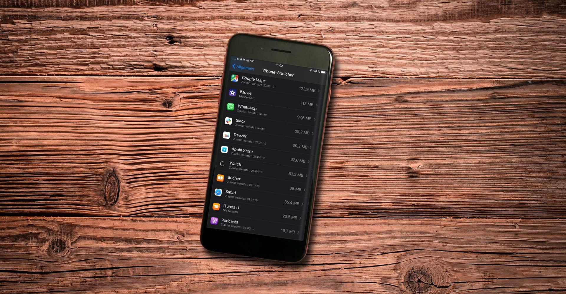 Am iPhone 8 Plus den iPhone-Speicher verwalten.
