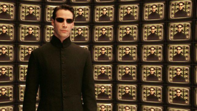 "Keanu Reeves in dem Film ""Matrix""."