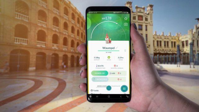 In Pokémon Go am Smartphone Waumpel einsehen.
