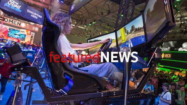 Gamescom 2019 Besucherin spielt im Gaming-Sessel - featuredNews 9