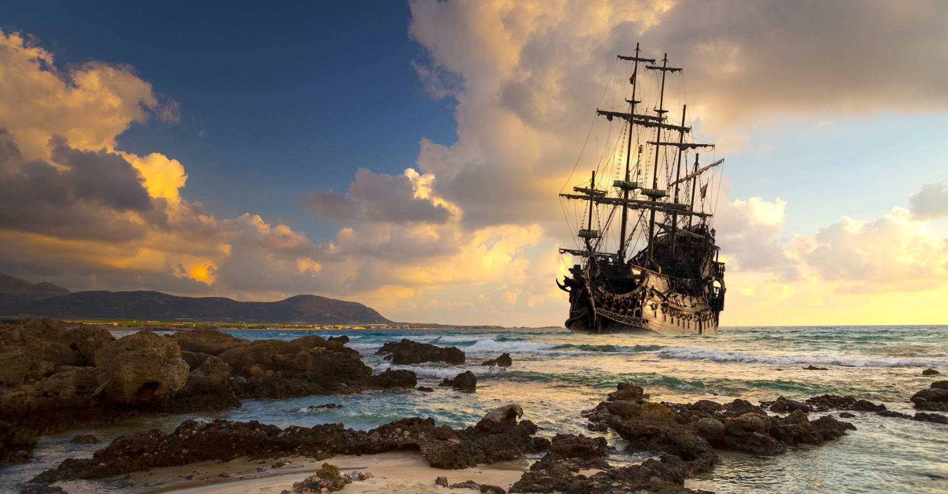 Piratenschiff wie am Drehort vor der australischen Ostküste