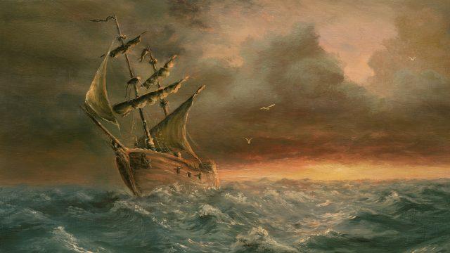 Piratenschiff wie aus Fluch der Karibik