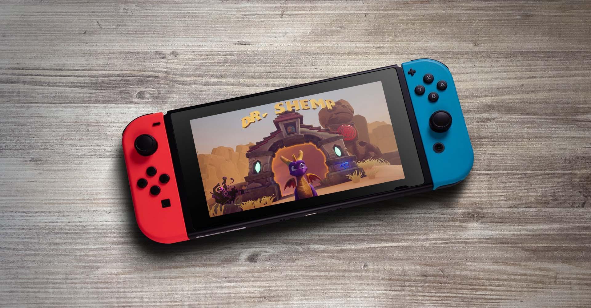 Das Spiel Spyro Reignited Trilogy an der Nintendo Switch zocken.