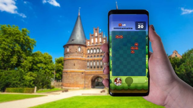 Dr. Mario World am Android-Smartphone zocken.
