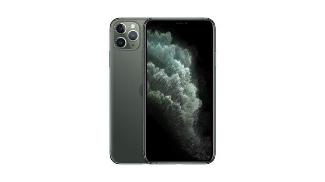 Vorder- und Rückseite des neuen iPhone 11 in Grün