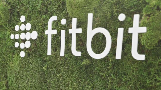 Das weiße Fitbit-Logo.
