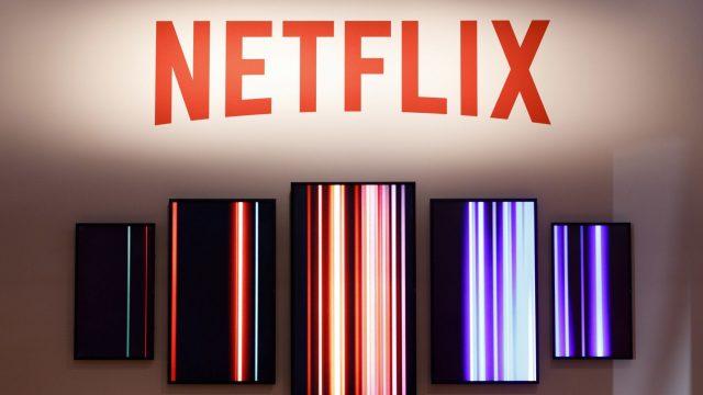 Das Netflix-Logo am Messestand des Streaminganbieters auf der Gamescom 2019.