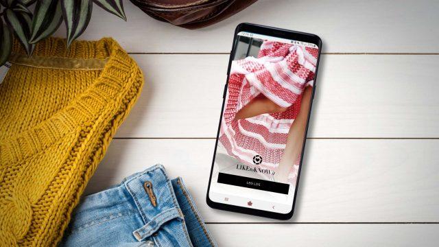 Die LikeToKnowIt-App auf dem Samsung Galaxy S9+.
