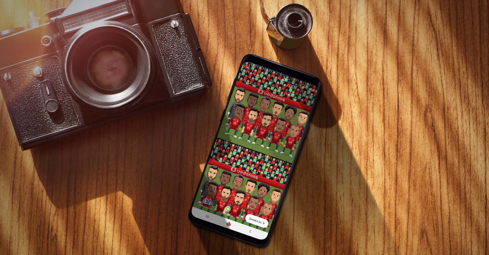 Am Samsung Galaxy S9+ für Instagram-Story ein GIF nutzen.