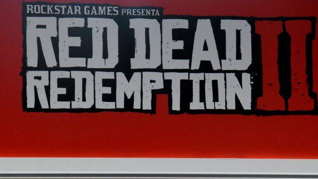 Rotes Banner für Red Dead Redemption 2.