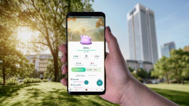 Ditto in Pokémon Go am Samsung Galaxy S9+ einsehen.