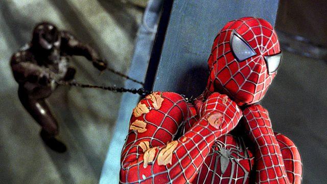 """Venom und Spider-Man kämpfen in """"Spider-Man 3"""" gegeneinander."""