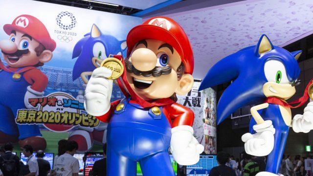 Werbung für das Nintendo-Switch-Spiel Mario & Sonic bei den Olympischen Spielen: Tokyo 2020.