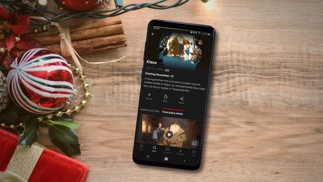 """Den Weihnachtsfilm """"Klaus"""" in der Netflix-App am Samsung Galaxy S9+ streamen."""