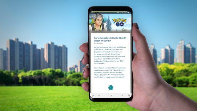 Neuigkeit zur Pokémon-Go-Feldforschung am Samsung Galaxy S9+ durchlesen.