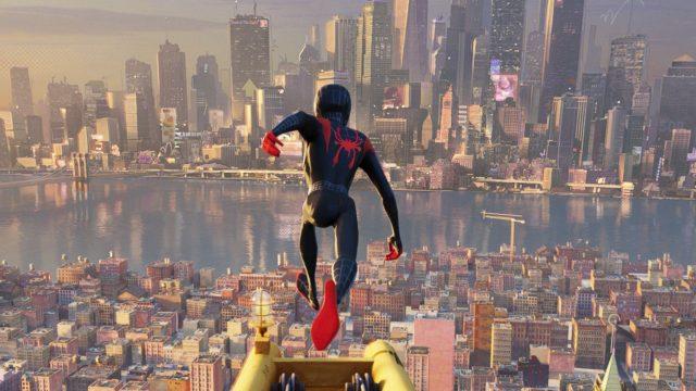 "Szenenbild aus dem Animationsfilm ""Spider-Man: A New Universe""."