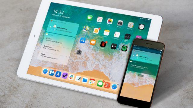 Widgets auf dem iPhone- und iPad-Startbildschirm.