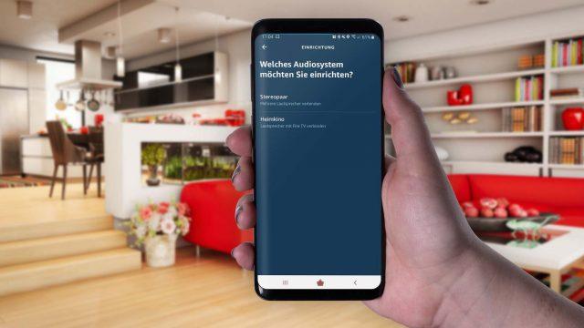 Am Samsung Galaxy S9+ in der Alexa-App ein Heimkinosystem einrichten.