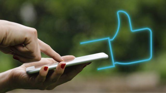 Smartphone und Like Icon