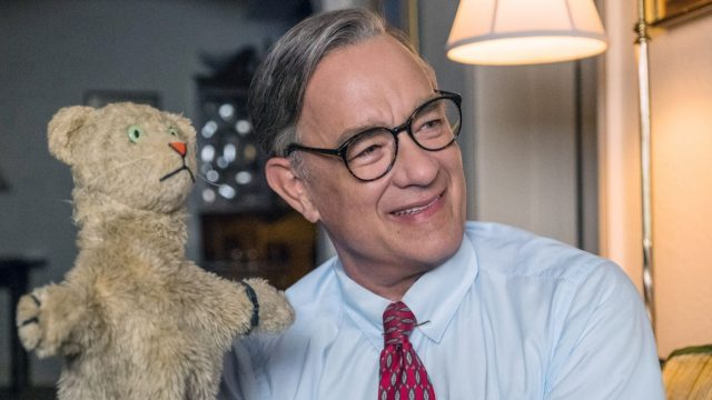 "Tom Hanks in dem Biopic ""Der wunderbare Mr. Rogers""."