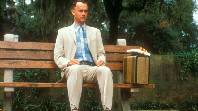 "Tom Hanks in dem Film ""Forrest Gump""."