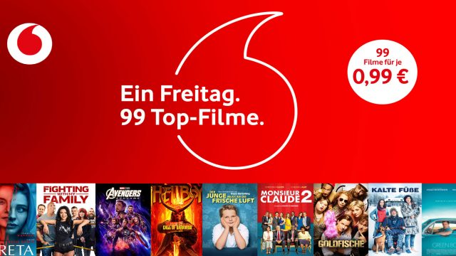 99 Top-Filme zum Black Friday bei Vodafone GigaTV