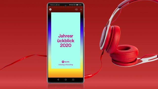 Spotify: Jahresrückblick 2020 ansehen