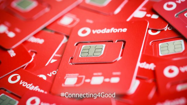 Vodafone halbiert die Größe von SIM-Karten für den Umweltschutz.