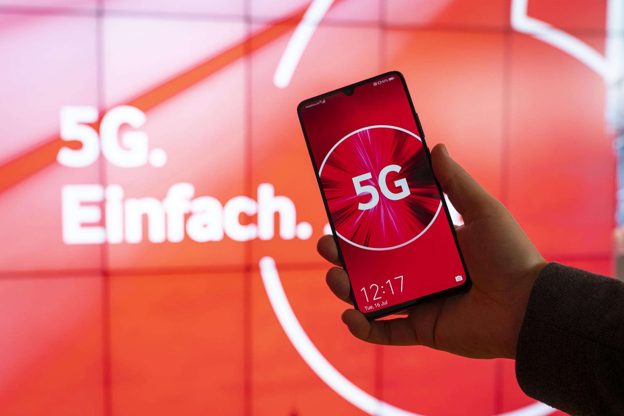 5G-Netzkarte von Vodafone zeigt, wo die Zukunft funkt
