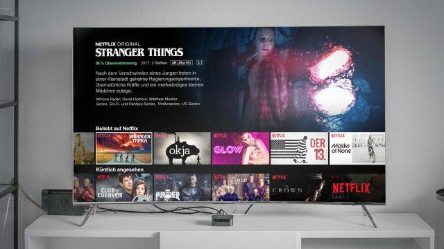 Netflix auf einem TV-Bildschirm