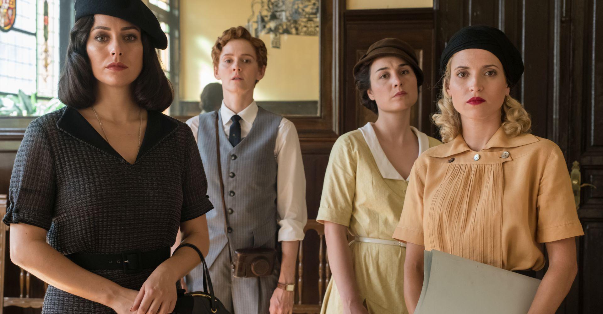 """Der Cast von """"Die Telefonistinnen""""."""