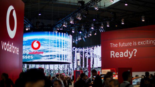 Vodafone-Stand beim Mobile World Congress 2019