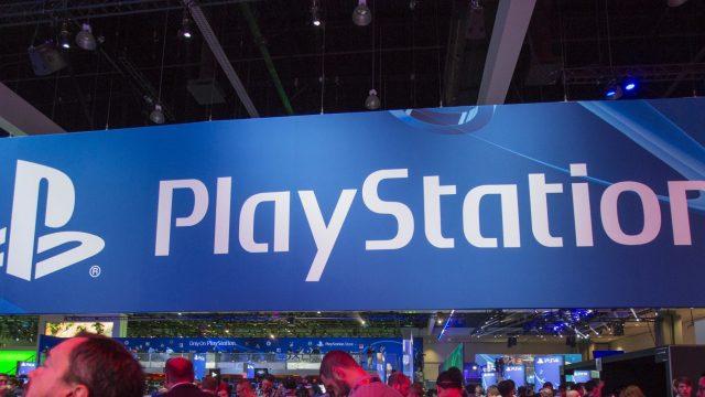Das PlayStation-Logo bei der E3-Messe.