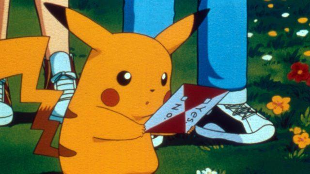 Bild mit Pikachu aus der Pokémon-Animeserie.