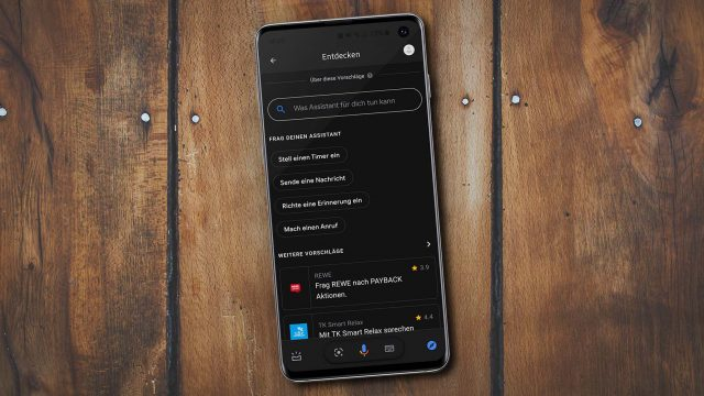 Google Assistant mit Dark Mode