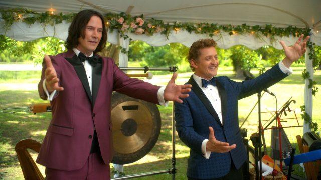 "Keanu Reeves und Alex Winter in ""Bill & Ted 3""."
