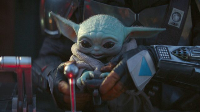"Baby Yoda in ""Star Wars: The Mandalorian""."