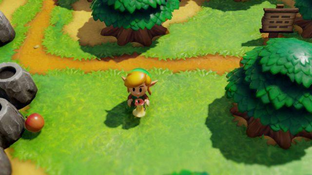 Held Link im Spiele-Remake The Legend of Zelda: Link's Awakening.