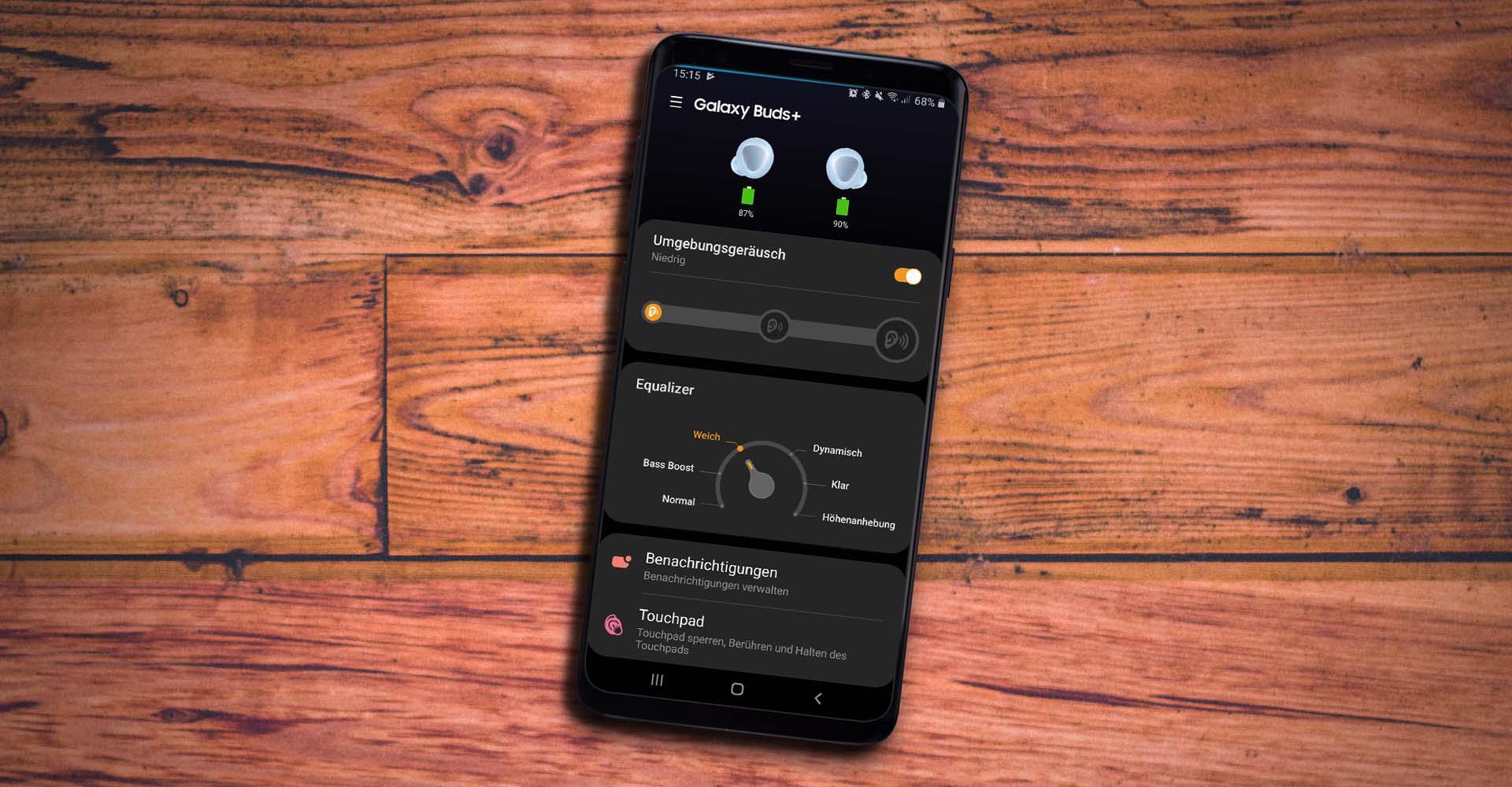 Die Galaxy Buds in der Galaxy-Wearable-App einstellen.