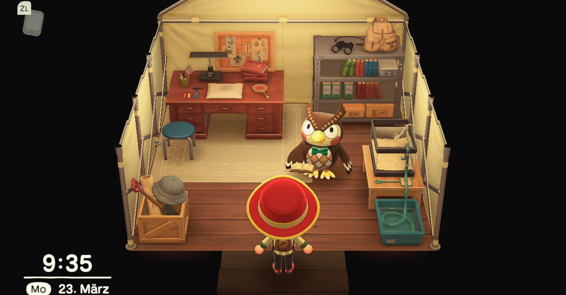 Die Eule Eugen in Animal Crossing: New Horizons.