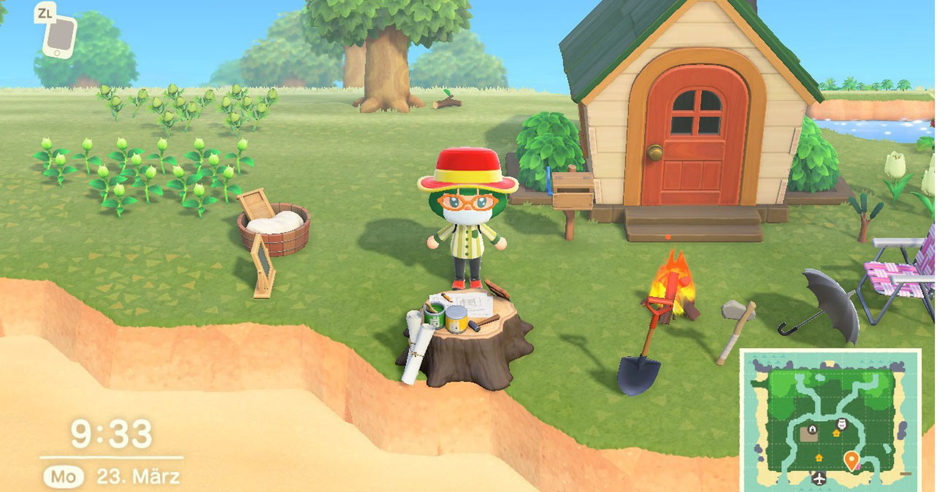 Das Haus in Animal Crossing: New Horizons.