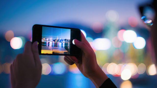 Smartphone Foto bei Nacht