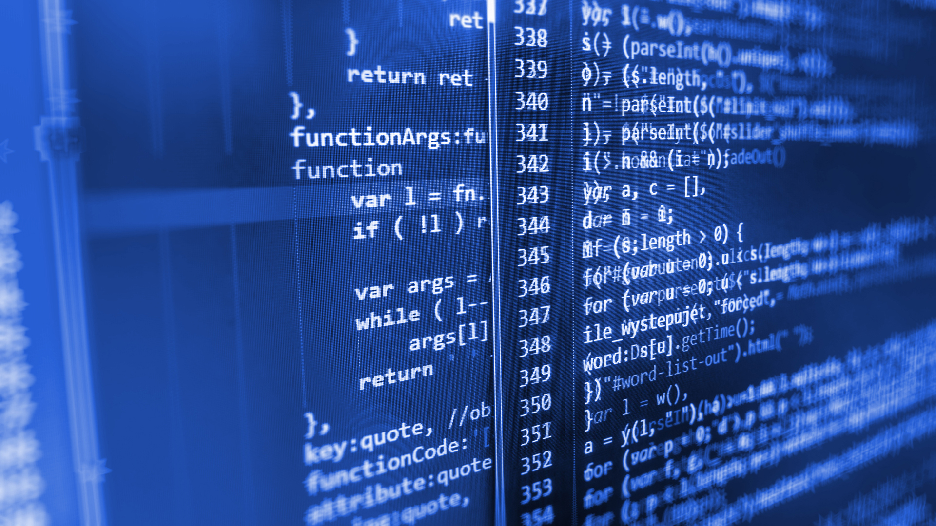 Der Quellcode eines Computerprogramms.
